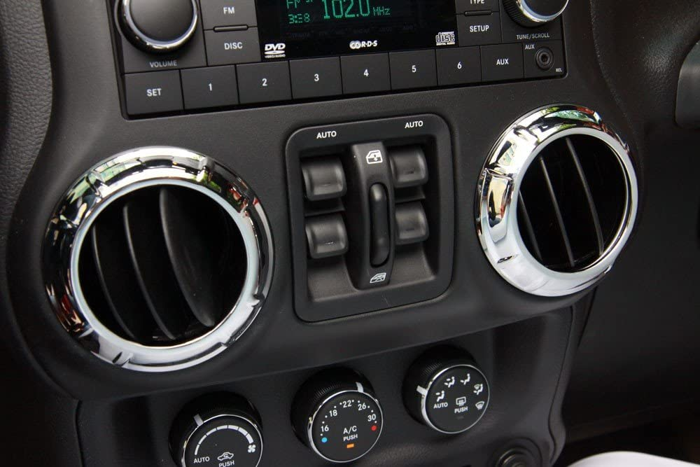 ABS Interior Car Air Condition Vent Easy-to-use for Cover Jeep W Trims Frame Max 77% OFF