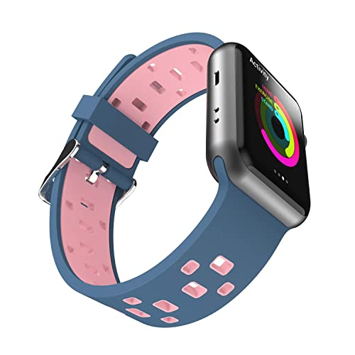 1eaccf075 Chok Idea Watchband Compatible With Apple Watch Strap 38mm 40mm,Breathable  Two-Tone Style