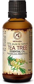 Tea Tree Eterisk Olja 50 ml - Melaleuca Alternifolia Bladolja - Australisk - Aromaterapi - Eteriska Oljor - 100% Ren & Nat...
