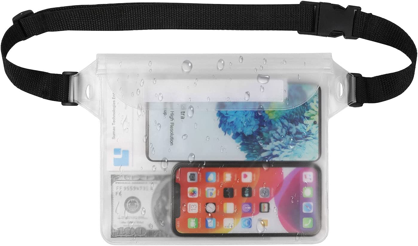 Universal Waterproof Case Cellphone Dry Bag Waist Pouch for 12 Pro Max 11 Pro Max Xs Max XR X 8 7 6s Plus SE, Galaxy S21 Ultra S21 S20 Plus S10 Plus S10e Note 20 Note 10 Plus A51 A52 A71 A72