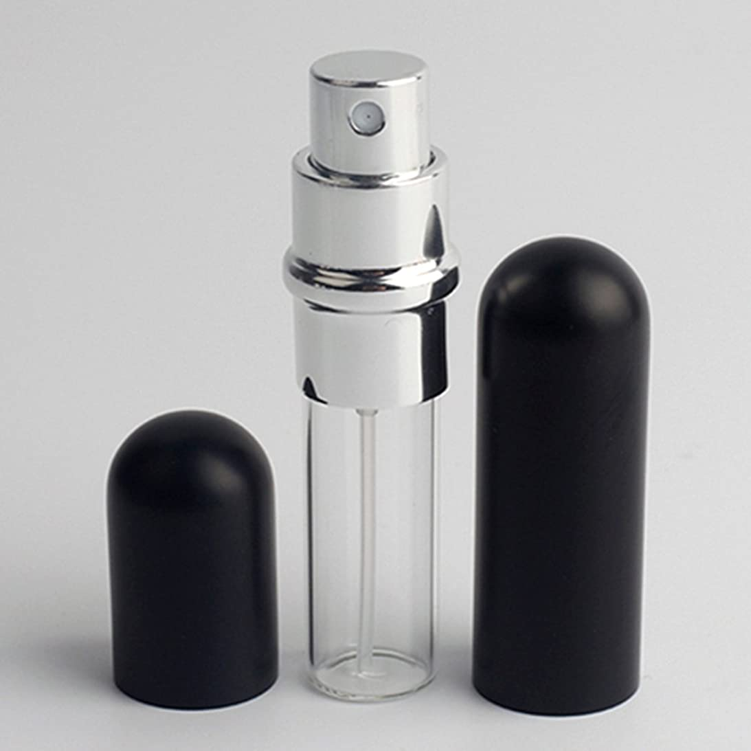 ブリークいつも有毒Merssavo 6ml金属ガラス小型ポータブル詰め替え式アトマイザートラベルスプレー香水ボトル