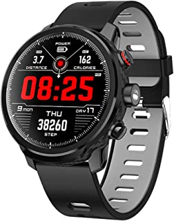 AIFB Waterproof Smart Bracelet, Color Screen Heart Monitor Pedometer Fitness Tracker Sleep Tracker Smartwatch Bluetooth Smart Notifications for Android iOS Phone,Black-OneSize