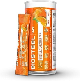 BioSteel High Performance Sports Hydration - Sugar Free Drink Mix, Orange, 12 Single Serving Packets