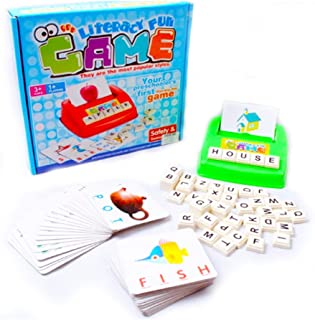Ponny Literacy Card Game Kids Letter Words Spelling Learning for Preschooler with Game Board