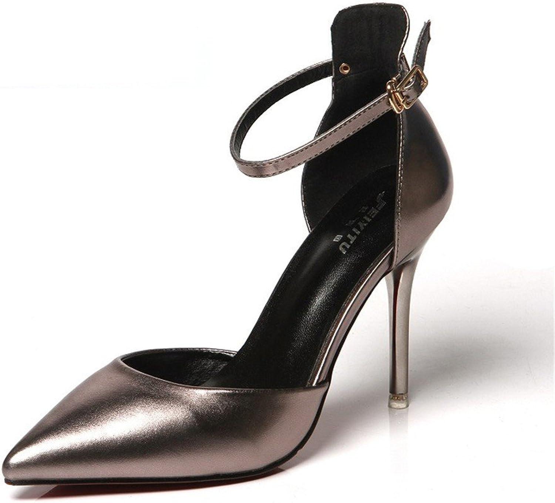 Meiren European beautiful sandales High talons talons talons fines talons fines talons fines skor coiffées sexy skor Night skor  är diskonterad