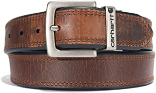 Accessory Oil Finish Leather Reversible Belt, 44, Brown/Black with Nickel Roller