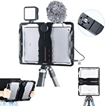 Aluminum Handheld U-PAD Metal Filmmaking Case Tripod Mount for iPad, ULANZI Video VLog Cage Rig Stabilizer Grip Compatible for Apple 7.9 & 9.7in ipad Education Video Recording Tablet Cage