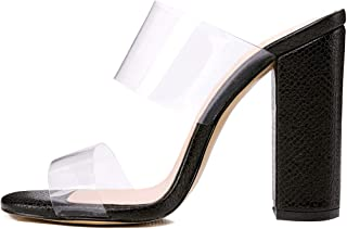 Best clear strap mules Reviews