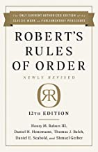 Robert's Rules of Order Newly Revised, 12th edition Book PDF