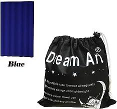 Dream Art Portable En Cualquier Lugar Cortinas Opacas Cortina con ventosas para Puerta corredera Guardería Bebé Niños Dormitorio de los niños En el hogar y de Viaje,Ancho Ajustable por Velcro Azul