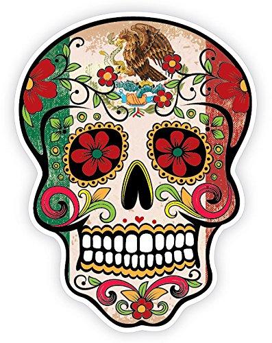 """Mexican Eagle Flag TAMPS Sticker Decal Mexico Aguila Mexicana Calcomania 7/""""x#84"""