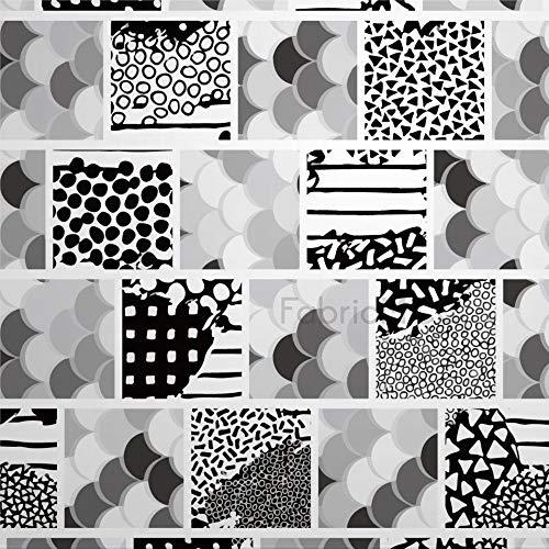 daoyiqi Juego de adhesivos decorativos para azulejos, textura en blanco y negro, 45,7 x 45,7 cm, vinilo adhesivo para suelo de azulejos de vinilo resistente al agua, 12 unidades