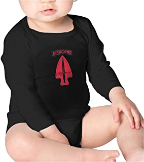 US Army Retro 1st Special Forces Ent Delta SSI Baby Onesies Cotton Long Sleeve Toddler Infant Bodysuits Black