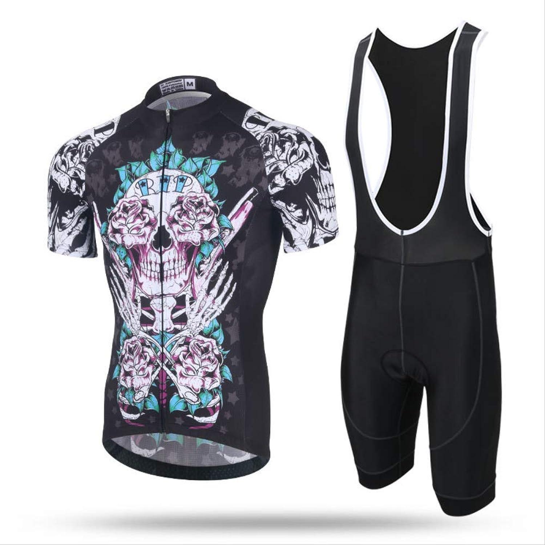 MUYSMY Men Race Fit Cycling Jersey Breathable Biking Padded Cycling XL schwarz