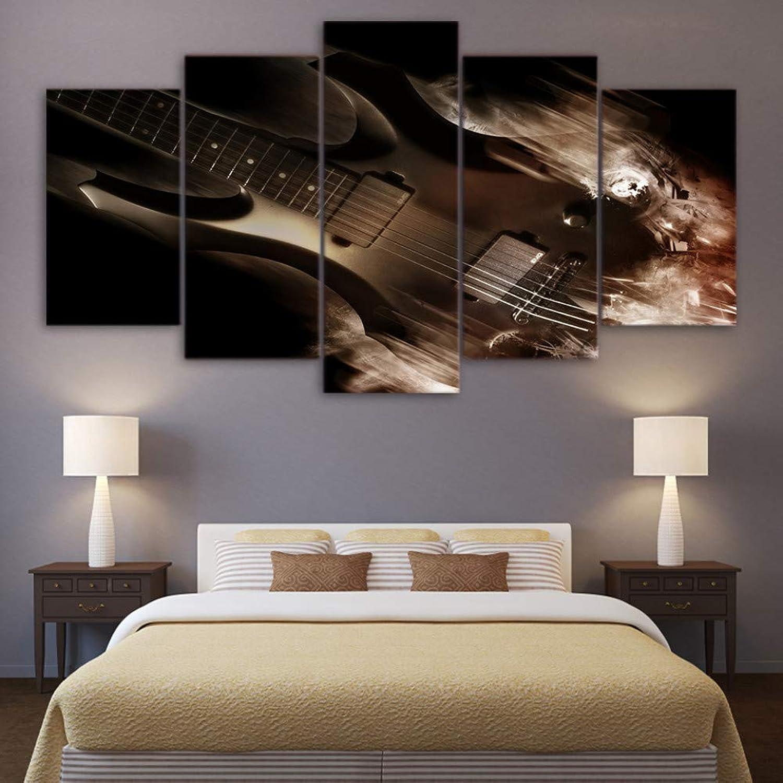 Entrega gratuita y rápida disponible. RMRM Marco HD Impreso 5 Paneles de de de Guitarra Paisaje Pintura Abstracta decoración de la Sala Marco del Cartel Impresión de Tipo de Foto Modular 20x35cm20x45cm 20x55cm  Ven a elegir tu propio estilo deportivo.
