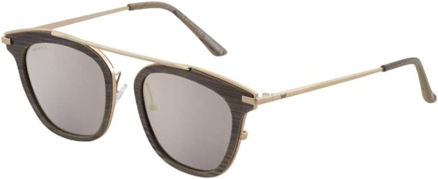 WeWood PETRA WENGE' MATTE pink gold GREY SHADED women Sunglasses