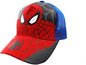 Children Cartoon Spiderman Baseball Caps Adjustable Sports Hats For 3T 8T Child