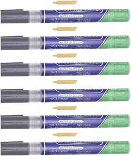 BESPORTBLE 6pcs Grout Pens White Tile Paint Marker Waterproof Grout Restorer Pen Repair Marker Filler Pen for Wall Floor G...