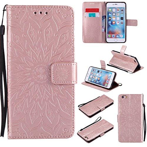 EYKT030027 - Funda tipo cartera de piel sintética para iPhone 6S Plus y 6 Plus (poliuretano termoplástico)