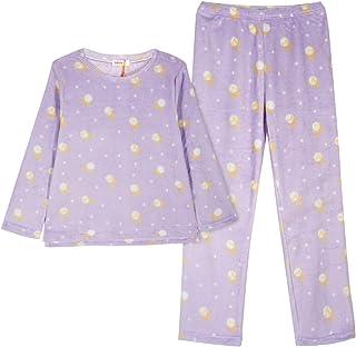 GOSO Pijama de Forro Polar para niñas,Pijama de Invierno cálido para Adolescentes niñas,Pijamas y Pantalones Largos,Pijama...