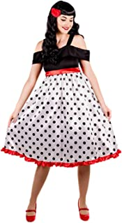 Womens 40 & 50s Costumes Adults Vintage Polka Dot Rockabilly Outfits