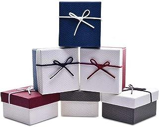Scatole Regalo - WENTS 12 Pack Confezione Regalo Contenitore di monili Delle Scatole di Cartone di Kraft per Piondolo, Bra...