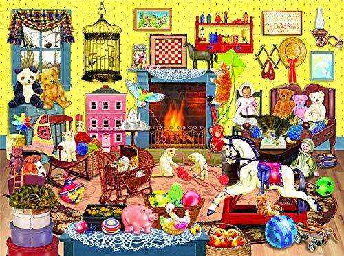Puzzles para Adultos, Puzzle 1000 Piezas, Puzzle Casa de invierno, Obra de Arte de Juego de Adulto Rompecabezas para Navidad, Rompecabezas de Piso Juego de Rompecabezas y Juego Familiar(Gatos)