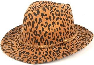 Fedora Cap Autumn Winter Women's Hat Panama Men's Hat Fedora Hat Wool Polyester Leather Rope Weaving Fashion Felt hat (Color : Yellow, Size : 56-58cm)