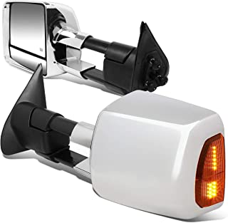 DNA MOTORING TWM-071-T999-CH-AM Pair Powered+Heated Towing Mirror w/LED Turn Signal Light
