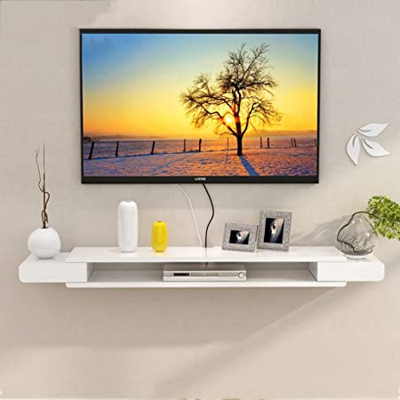 Admir Floating Tv Stand Cabinet,Wall Mounted TV Unit Shelf Bedroom,Entertainment Tv Media Unit Wall Storage Wood Living Room-A