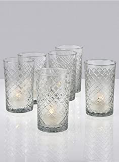 Serene Spaces Living Cut Glass Votives, Set of 6, Size: 2.5