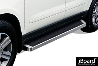 APS iBoard Running Boards (Nerf Bars Side Steps Step Bars) Compatible with 2007-2017 Chevy Traverse & 2007-2016 GMC Acadia (Exclude Denali) & 2007-2010 Saturn Outlook (Silver Running Board Style)