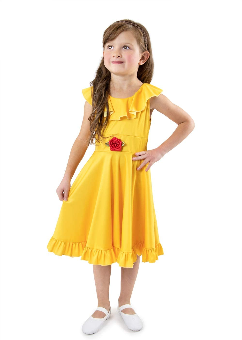 Little Adventures Yellow Beauty Princess Large Twirl Mail order cheap Size Cheap mail order shopping Dress
