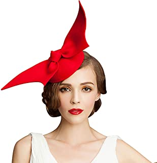 Handmade Wool Felt Women Angel Wings Fascinator Hat Cocktail Party Show A194