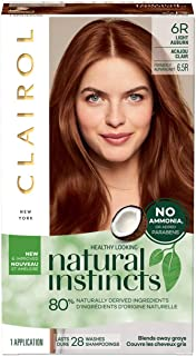 Sponsored Ad - Clairol Natural Instincts Semi-permanent Hair Color, 6.5R Light Auburn, 3 Count (Packaging May Vary)