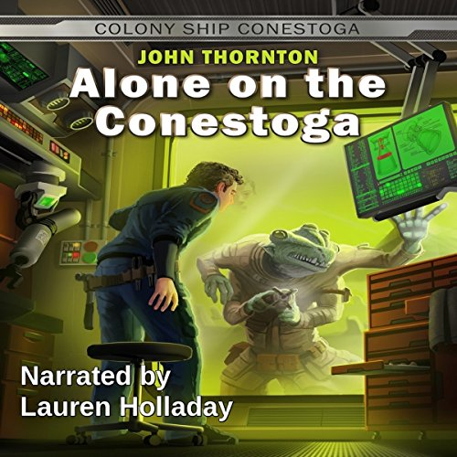 Alone on the Conestoga audiobook cover art