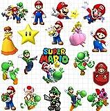 HONGC Encantadoras Pegatinas de Anime Super Mario para monopatín, portátil, Equipaje, Nevera, teléfono, Doodle, Pegatina Impermeable para Coche, 50 unids/Set