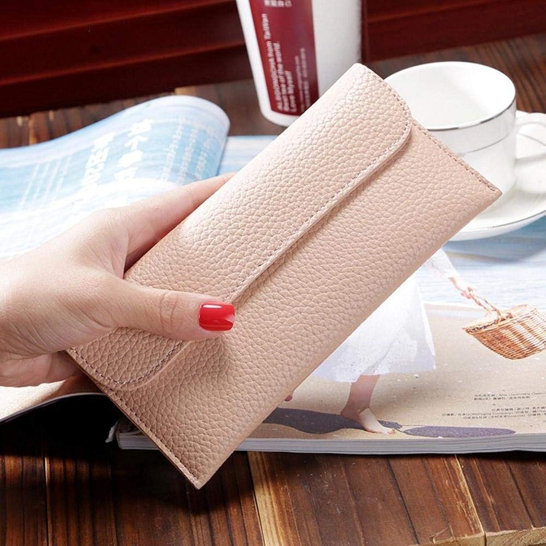 Girls Purse Women's Wallet,Lady Wallet Buckle PU Leather Wallet 19  10  2cm (color   B)