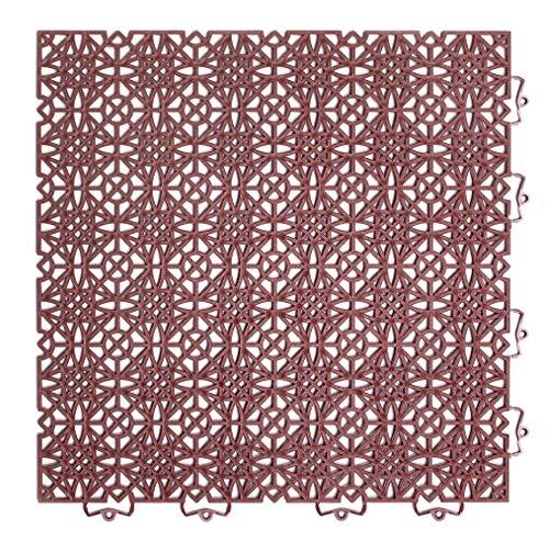 andiamo Kunststofffliese Terra Sol 38x38 cm, Bodenfliese mit Klicksystem, belastbar, Farbe:Terra, Größe:Fliese - Set 35 Stück (5m²)