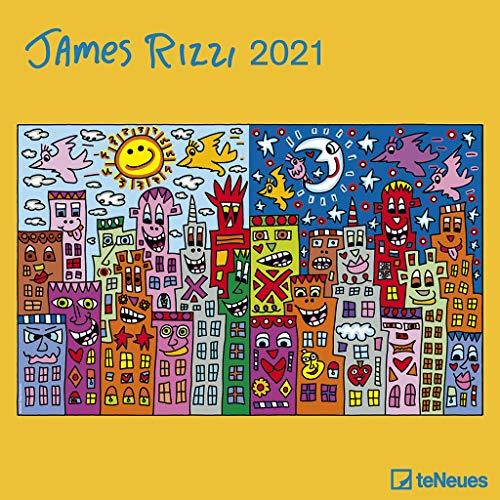 James Rizzi 2021 - Wand-Kalender - Broschüren-Kalender - 30x30 - 30x60 geöffnet - Kunst-Kalender