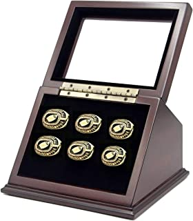 FansRings Championship Ring Display Case for Multi or Single Sports School Ring with Real Glass