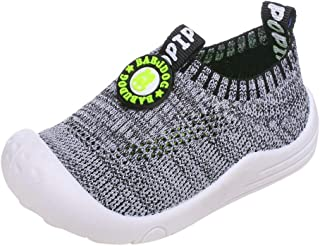 👍ONLY TOP👍 Baby Boys Girls Sneakers Anti Slip Lightweight Soft Toddler First Walkers for Walking Running