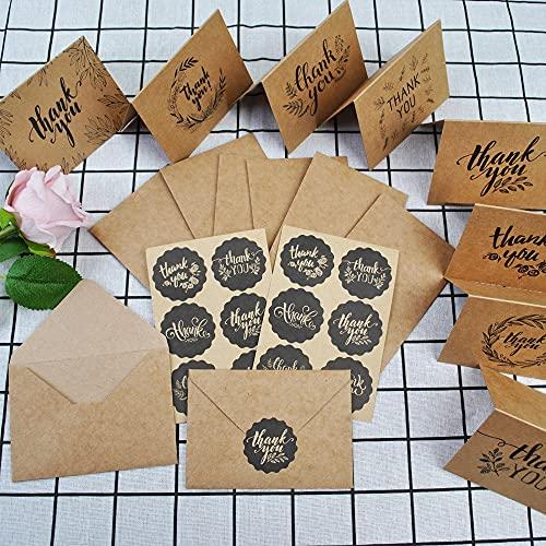 Aloces Dankeskarten,Grußkarten Danksagungskarten Kraftpapier Geburtstagskarte Osterkarten Trauerkarten mit Umschlägen Postkarten Klappkarte Abschied Vielseitige und individuelle Motive (8 Sätze )