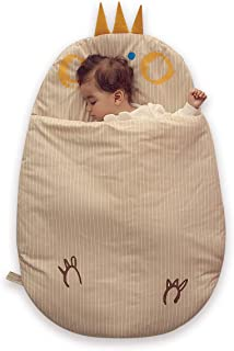 Bebamour Newborn Baby Wrap Swaddle Blanket, Baby Kids Toddler Sleeping Bag Sleep Sack Stroller Wrap for 0-18 Month Baby (Khaki)