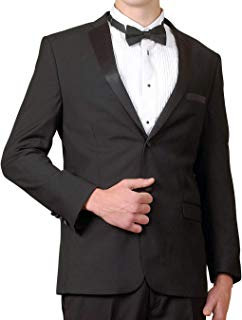 Mens Black Tuxedo Jacket, Satin Shawl Lapel, Mens Dinner Jacket
