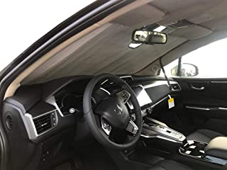 The Original Windshield Sun Shade, Custom-Fit for Honda Clarity Sedan Plug-in, Electric 2017, 2018, 2019, Silver Series