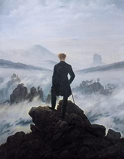 Berkin Arts Caspar David Friedrich Giclee Canvas Print Paintings Poster Reproduction (Wanderer Above The Sea of Fog)