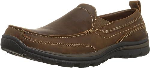 Chaussures Skechers USA - Mousse à mémoire de de de forme - Coupe décontractée - Pour homme - Marron - marron foncé, 42.5 EU 8b8
