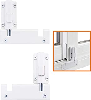 Best HauSun Patio Sliding Door Security Foot Lock Kick Lock, Fits on Top Rail-Childproof Patio Door Guardian-or Bottom Rail-Foot Operated-Keep Your Family Safe and Secure,2 Pack Review