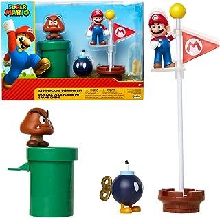"""Nintendo Super Mario Acorn Plains 2.5"""" Figure Multipack Diorama Set with Accessories"""